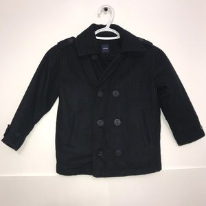 Baby GAP Navy Thick Wool Double Breasted Pea Coat